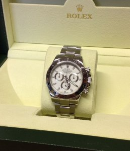 Rolex Daytona Stainless Steel White Dial 116520 Latest Clasp 'G' Serial 2012
