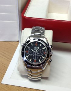 Omega Planet Ocean Chronograph 45.5mm Black Bezel Orange Numerals 2210.51.00 From 2010