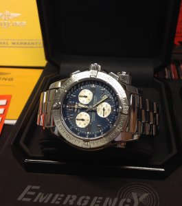 Breitling Emergency Mission Blue Dial A73322 From 2011 Recently Serviced By Breitling UK