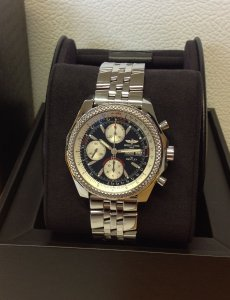 Breitling For Bentley GT Black Dial A13362 Just Serviced By Breitling UK