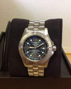Breitling Superocean Steelfish A17390 Blue Dial Just Serviced