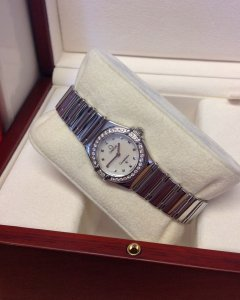Omega Constellation 1465.71.00 My Choice Diamond Bezel Recently Serviced By Omega