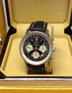 Breitling Navitimer A23322 Black Arabic Numeral Dial Just Serviced By Breitling