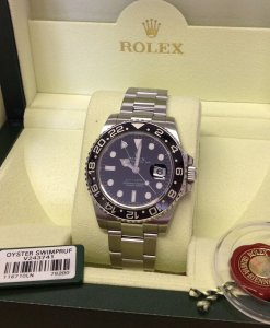 Rolex GMT Master II 116710LN Just Serviced By Rolex