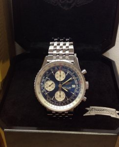 Breitling Old Navitimer A13322 Blue Baton Dial Serviced
