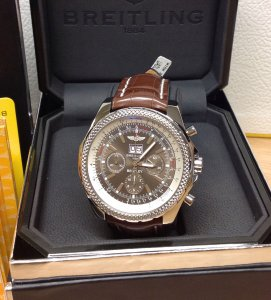 Breitling For Bentley 6.75 A44362 Bronze Dial On Brown Crocodile Strap