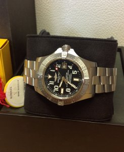 Breitling Avenger Seawolf A17330 Black Arabic Numeral Dial 2013