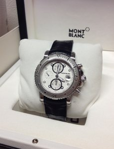 Montblanc Sport Chronograph 104280 Automatic White Dial 44mm