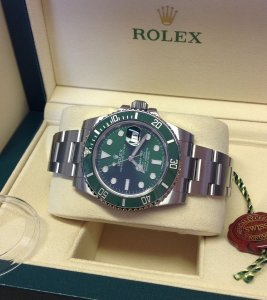 Rolex Submariner Date 116610LV Green Unworn 2015