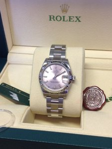 Rolex Datejust Lady 31mm 178274 Mid/Size Pink Baton Dial Brand New Unworn 2015