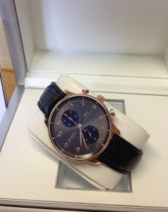 IWC Portuguese Chronograph IW371482 18ct Rose Gold