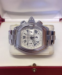 Cartier Roadster XL Chronograph W62006X6 Serviced