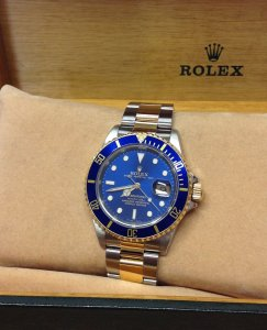 Rolex Submariner Date 16613 Bi/Colour Blue From 1991