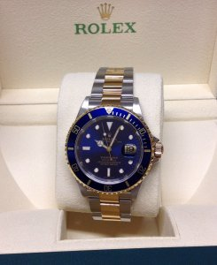 Rolex Submariner Date 16613 Bi/Colour Blue Kit 2006