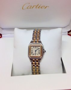 Cartier Panthere 22mm Ladies Bi Colour 1120 Two Row Gold Bracelet Just Serviced By Cartier UK