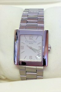 Dior Riva D101-100 Silver Rectangular Dial 35mm