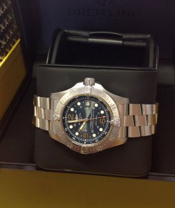 Breitling Superocean Steelfish A17390 Blue Dial 2007