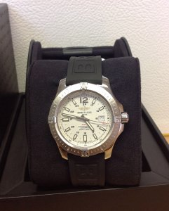 Breitling Colt Automatic A17388 Silver Dial 44mm 2014