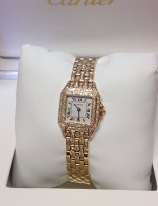 Cartier Panthere 22mm 18ct Yellow Gold Diamond Set