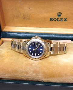 Rolex Yachtmaster 69628 Ladies 29mm 18ct Yellow Gold