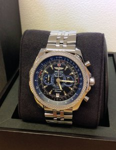 Breitling for Bentley Supersports A2636416/BB66 black and blue dial limited edition of 1,000 pieces