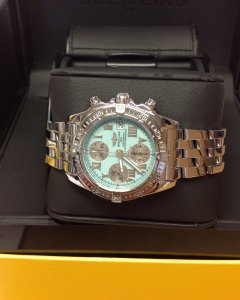 Breitling Chrono Cockpit A13358 Turquoise Dial