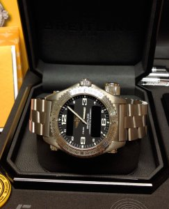 Breitling Emergency E76321 Black Dial Just Serviced