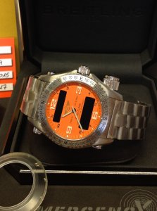Breitling Emergency E76321 Coral Orange Dial 2010