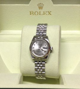 Rolex Datejust Lady 26mm 179174 Silver Roman