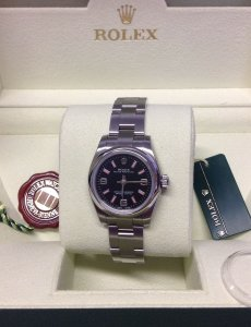 Rolex Oyster Perpetual 176200 26mm Black And Pink