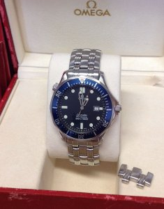 Omega Seamaster 41mm 2541.80.00 Blue Kit Quartz