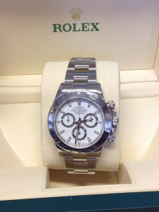 Rolex Daytona 116520 Stainless Steel White Dial 2012
