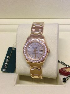 Rolex Pearlmaster 29mm 80298 18ct Yellow Gold Diamond Bezel