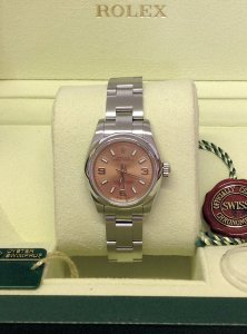 Rolex Oyster Perpetual 176200 26mm Salmon Dial