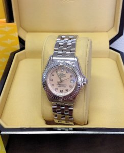 Breitling Callistino A72345 Pink Mother Of Pearl Dial