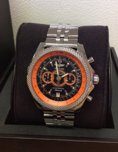 Breitling for Bentley Supersports A26364A5/BB65 black and orange dial limited edition of 1,000 pieces