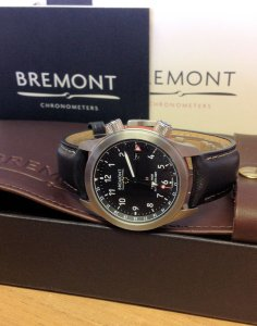 Bremont MBIII Martin Baker GMT Orange Side