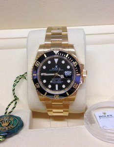 Rolex Submariner Date 116618LN 18ct Gold Unworn