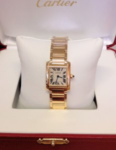 Cartier Tank Francaise W50002N2 Ladies 20mm