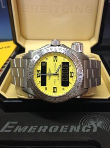 Breitling Emergency E76321 Yellow Dial
