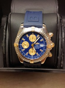 Breitling Chronomat Evolution B13356 Bi/Colour Blue