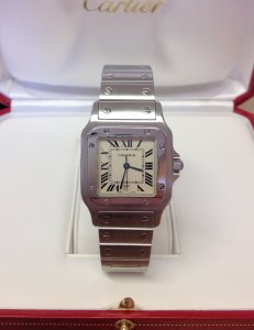 Cartier Santos Galbee W20060D6 Ladies 29mm Quartz