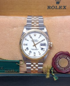 Rolex Datejust 16233 36mm Bi/Colour Diamond Dot