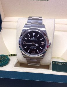 Rolex Explorer I 214270 39mm Black Dial
