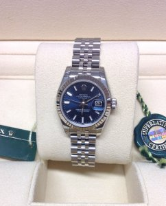 Rolex Datejust Lady 179174 26mm Blue Baton