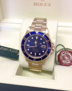 Rolex Submariner Date 16618LB 18ct Yellow Gold
