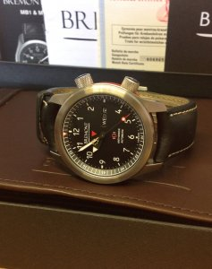 Bremont MBII/OR Martin Baker II Orange Side