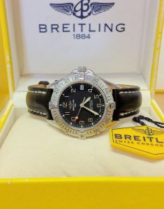 Breitling Colt Automatic A17035 Black Dial 38mm