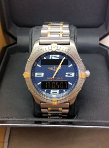 Breitling Aerospace F75362 Blue Dial Bi/Colour