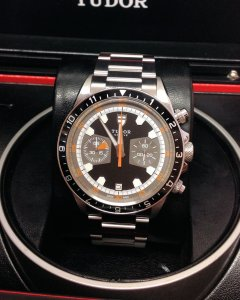 Tudor Heritage Chronograph 70330 42mm Black Dial